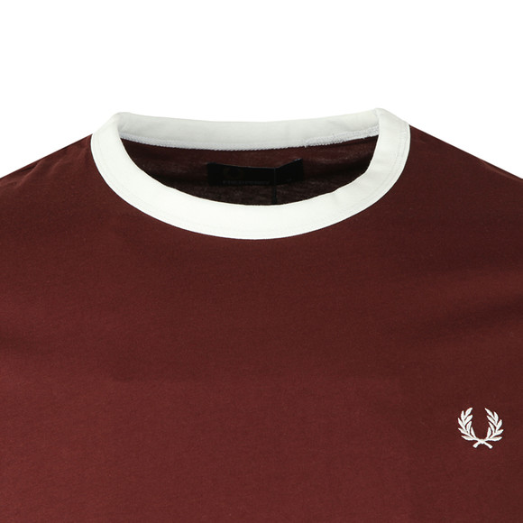 Fred Perry Sportswear Mens Red Ringer T-Shirt main image