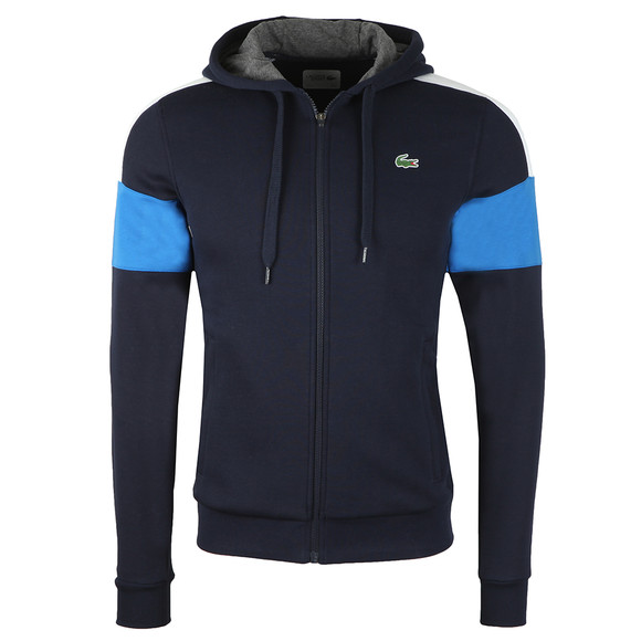 Lacoste Sport Mens Blue Sh9492 Full Zip Hooded Sweat main image