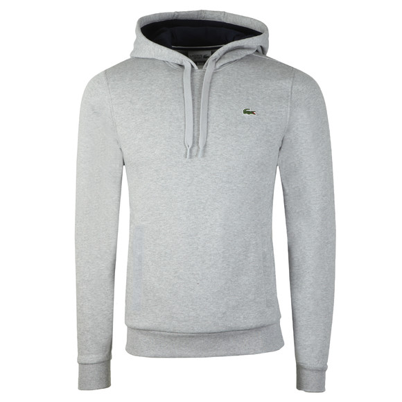 Lacoste Sport Mens Grey SH2128 Hooded Sweatshirt