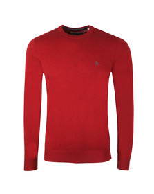 Original Penguin Mens Red Supima Cotton Jumper