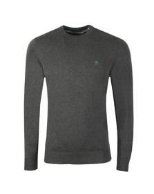 Original Penguin Mens Grey Supima Cotton Jumper