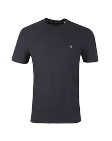 Original Penguin Mens Blue S/S Camo Logo Tee