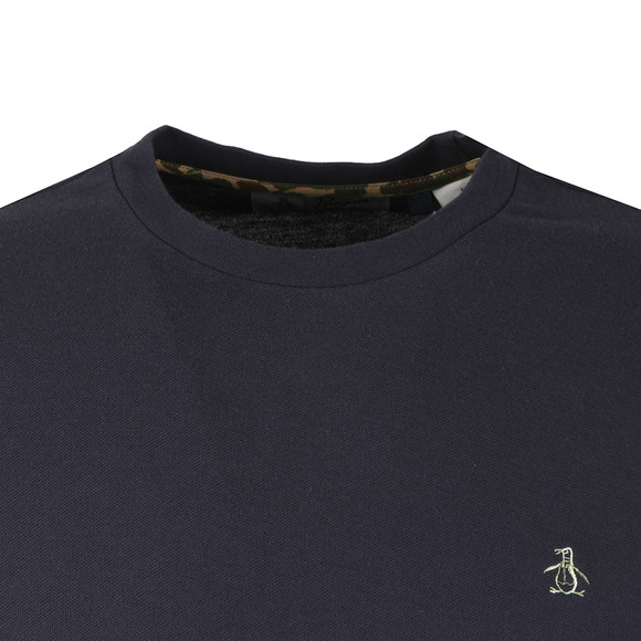 Original Penguin Mens Blue S/S Camo Logo Tee main image