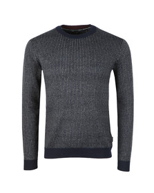 Ted Baker Mens Blue Jinxi Vertical Striped Crew Neck Knit