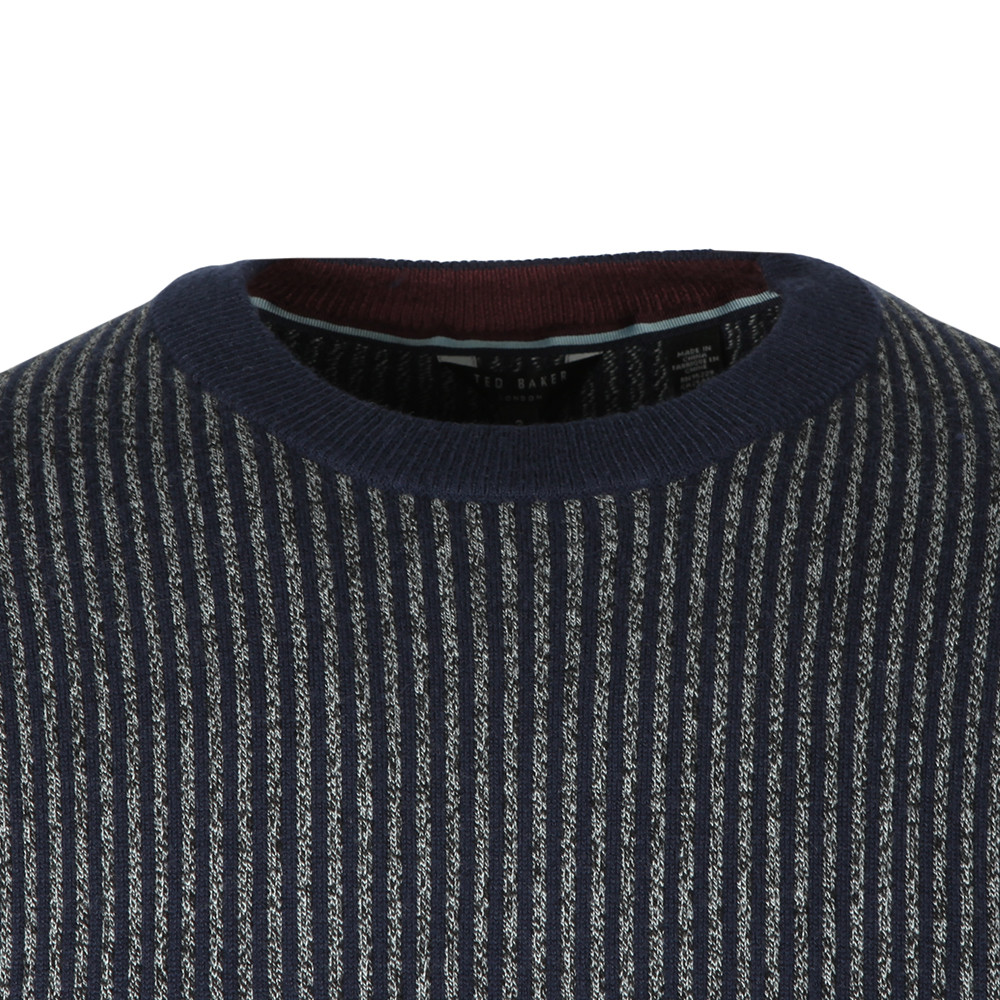 Jinxi Vertical Striped Crew Neck Knit main image