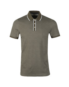 Ted Baker Mens Green Marsmal All Over Geo Printed Polo