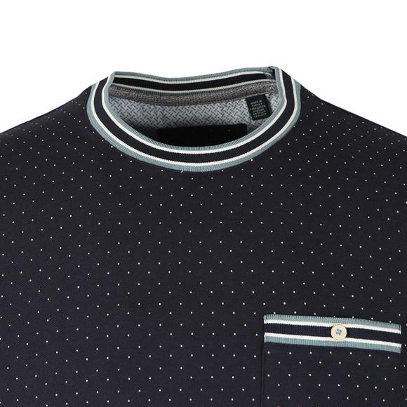Ted Baker Mens Blue Glaad Pique Mini Spot T-Shirt main image