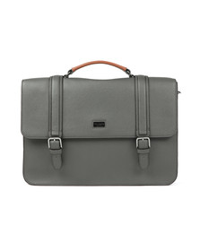 Ted Baker Mens Grey Cross Grain Satchel