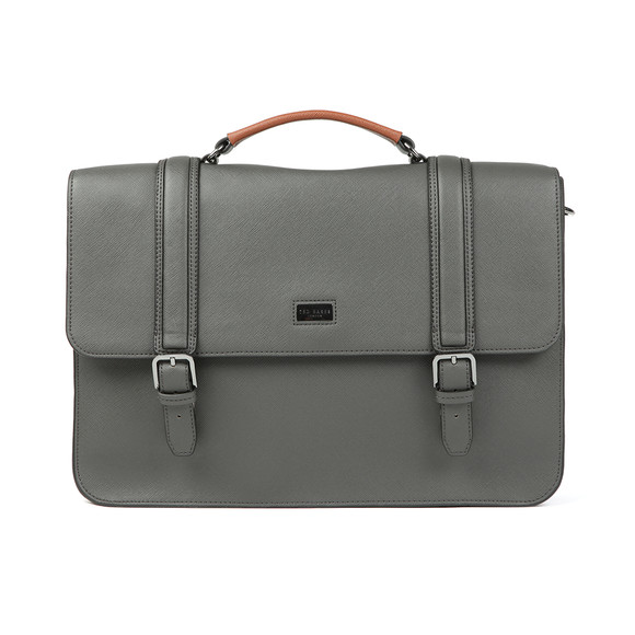 Ted Baker Mens Grey Cross Grain Satchel main image