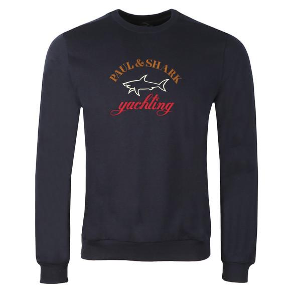 Paul & Shark Mens Blue Embroidered Logo Sweatshirt