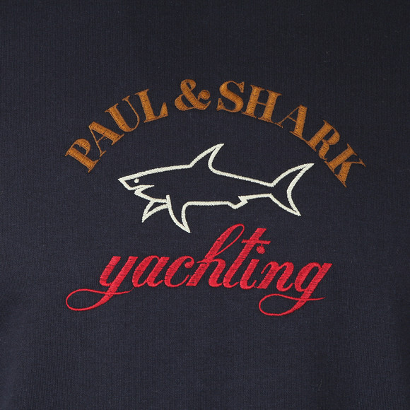 Paul & Shark Mens Blue Embroidered Logo Sweatshirt main image