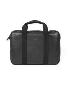 Ted Baker Mens Black Importa Leather Document Bag