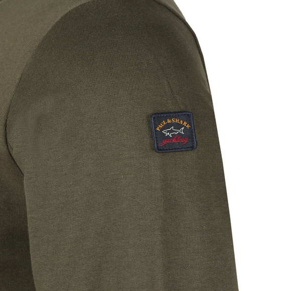 Paul & Shark Mens Green Small Logo Sweatshirt main image