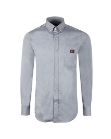 Paul & Shark Mens Grey Pocket Logo Shirt