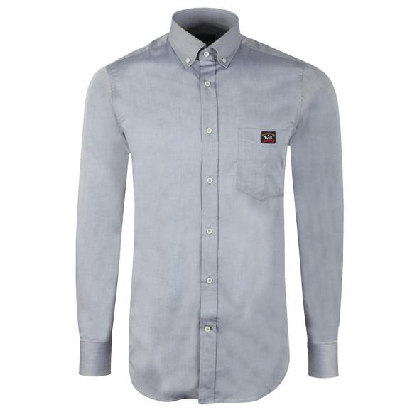 Paul & Shark Mens Grey Pocket Logo Shirt
