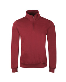 Paul & Shark Mens Red Half Zip Sweatshirt