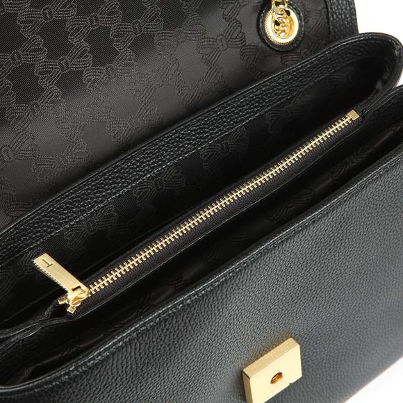 Ted Baker Womens Black Hermiaa Suede Padlock Shoulder Bag main image