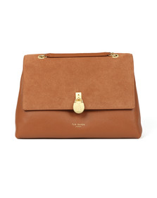 Ted Baker Womens Brown Hermiaa Suede Padlock Shoulder Bag