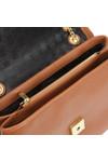 Ted Baker Womens Brown Hermiaa Suede Padlock Shoulder Bag