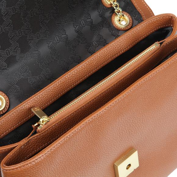 Ted Baker Womens Brown Hermiaa Suede Padlock Shoulder Bag main image