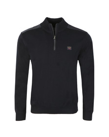 Paul & Shark Mens Blue The Original C0P175 Half Zip Jumper
