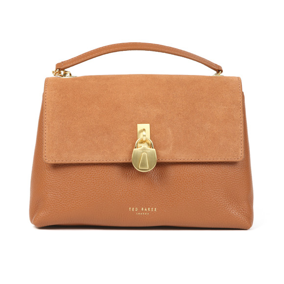 Ted Baker Womens Brown Helena Suede Padlock XBody Bag main image