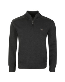 Paul & Shark Mens Grey The Original C0P175 Half Zip Jumper