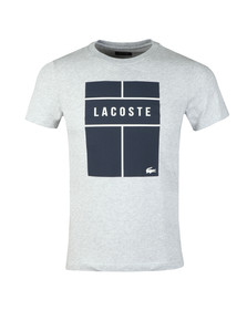Lacoste Sport Mens Grey S/S TH9462 Tee