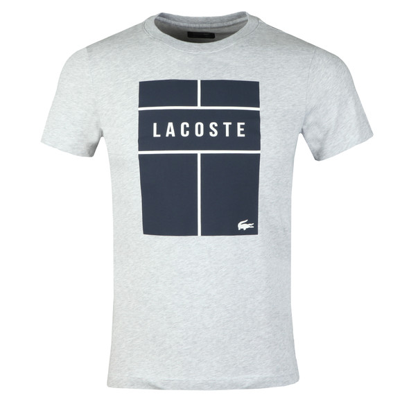 Lacoste Sport Mens Grey S/S TH9462 Tee main image