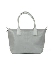 Ted Baker Womens Silver Ciscki Reflective Small Nylon Tote Bag