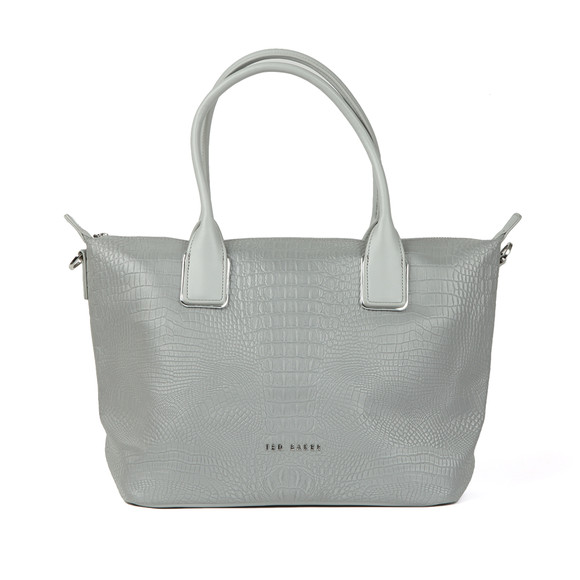 Ted Baker Womens Silver Ciscki Reflective Small Nylon Tote Bag main image
