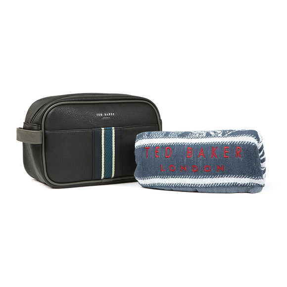 Ted Baker Mens Black Webbing Wash Bag and Towel main image