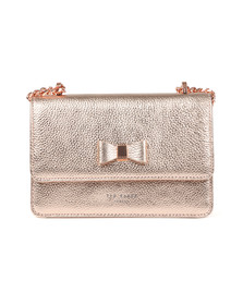 Ted Baker Womens Pink Drayaa Bow Detail Micro Metallic XBody Bag