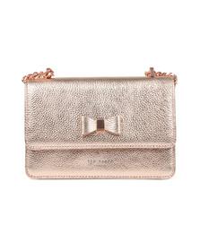 Ted Baker Womens Pink Drayaa Bow Detail Micro Metallic XBody Bag