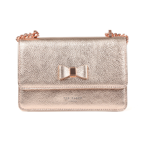 Ted Baker Womens Pink Drayaa Bow Detail Micro Metallic XBody Bag main image
