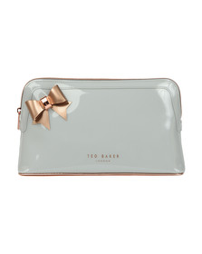 Ted Baker Womens Grey Alley Bow Detail Washbag