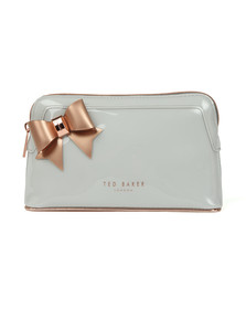 Ted Baker Womens Grey Aubrie Bow Makeup Bag