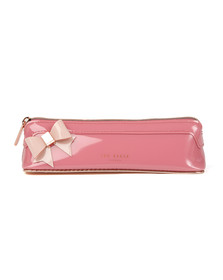 Ted Baker Womens Pink Tonda Core Bow Pencil Case