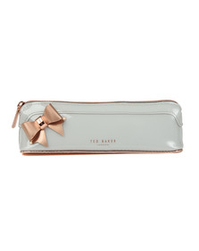Ted Baker Womens Grey Everlee Bow Pencil Case