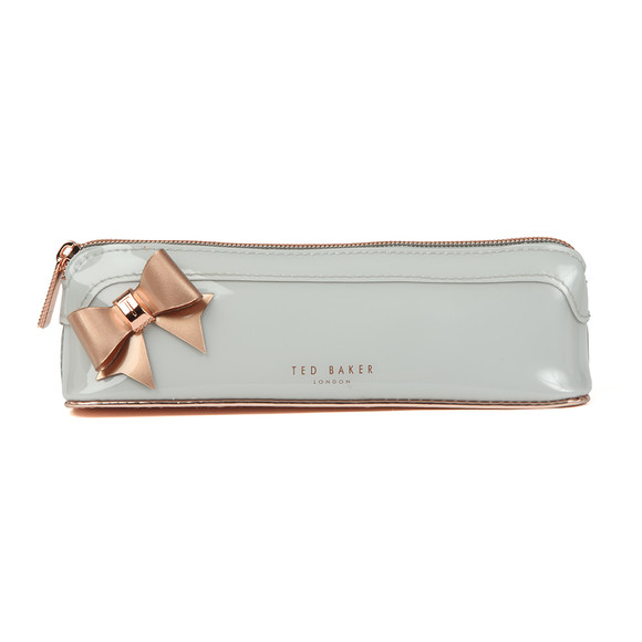 Ted Baker Womens Grey Everlee Bow Pencil Case main image