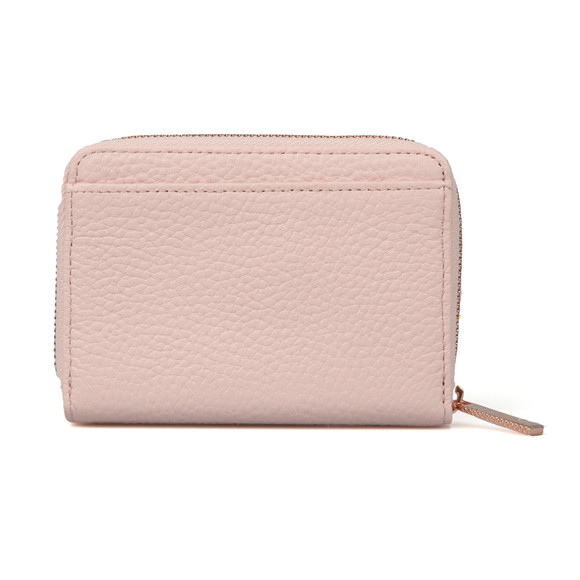 Ted Baker Womens Pink Plie Textured Small Zip Purse main image