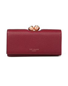 Ted Baker Womens Red Muscovy Textured Bobble Matinee Purse