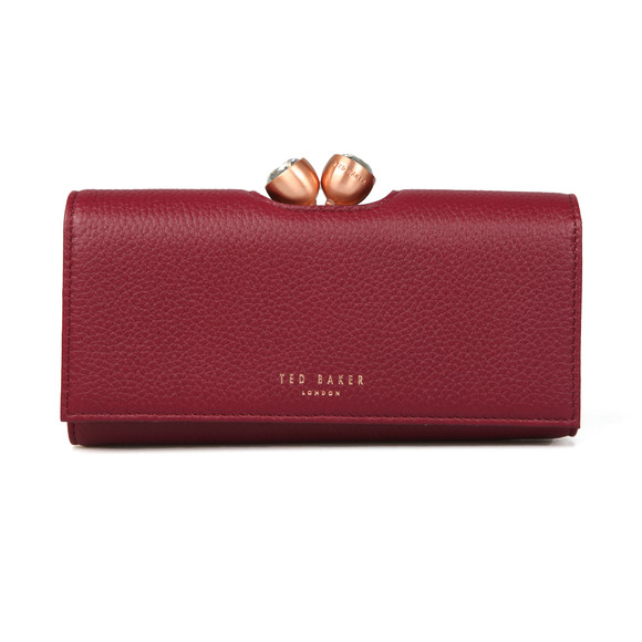 Ted Baker Womens Red Muscovy Textured Bobble Matinee Purse main image