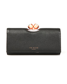 Ted Baker Womens Black Muscovy Textured Bobble Matinee Purse