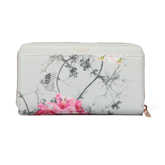 Ted Baker Womens Grey Byra Babylon Zip Matinee Purse main image