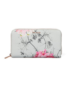 Ted Baker Womens Grey Byra Babylon Zip Matinee Purse