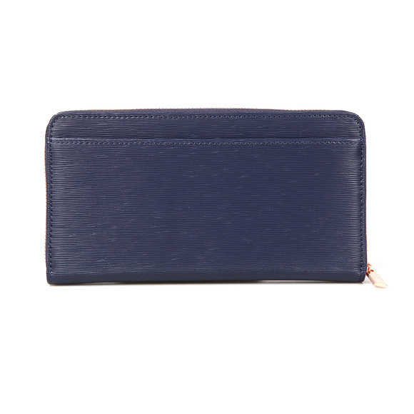 Ted Baker Womens Blue Peony Textured Zip Around Matinee Purse main image