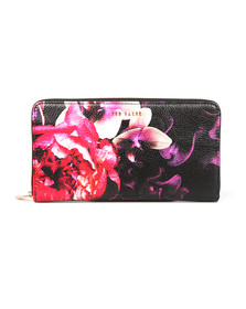 Ted Baker Womens Black Viola Splendour Zip Matinee Purse