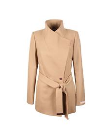 Ted Baker Womens Brown Rytaa Short Wool Wrap Coat