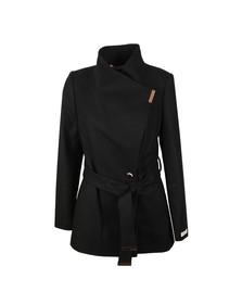 Ted Baker Womens Black Rytaa Short Wool Wrap Coat